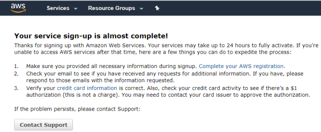 Steps to create Amazon Web Service(AWS) cloud Free Tier account
