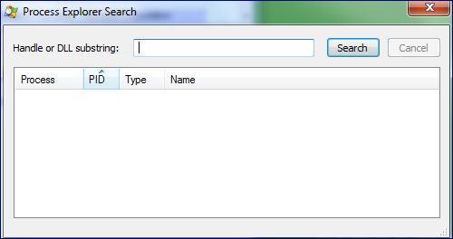 Processexplorersearch