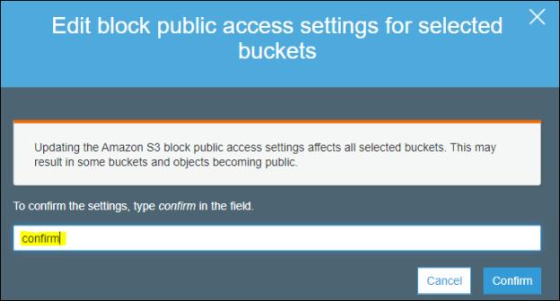confirm public access