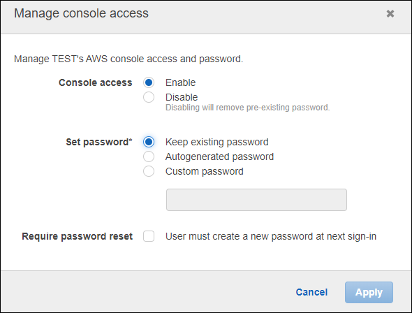 Set password for console.PNG