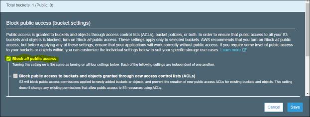 uncheck block access